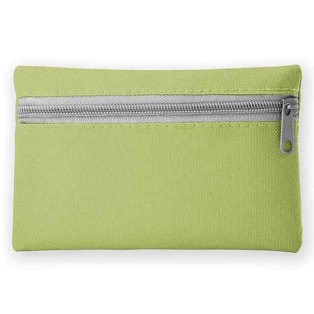 DURHAM polyesterové multifunkční pouzdro s kapsou na klíče, 600D, Světle zelená - zelená