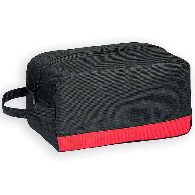 COSMI polyesterová kosmetická taška, 600D, Červená - červená