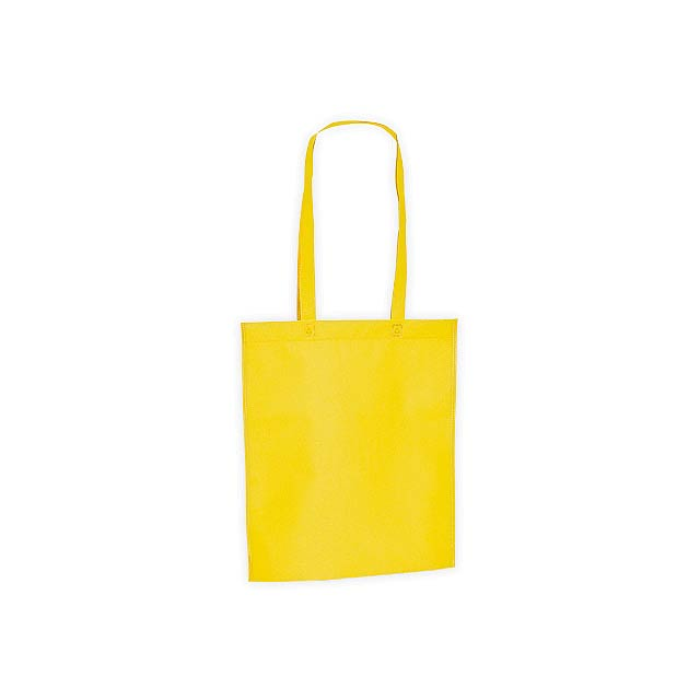 CANARY nákupní taška z netkané textilie, 80 g/m2, Žlutá - žlutá