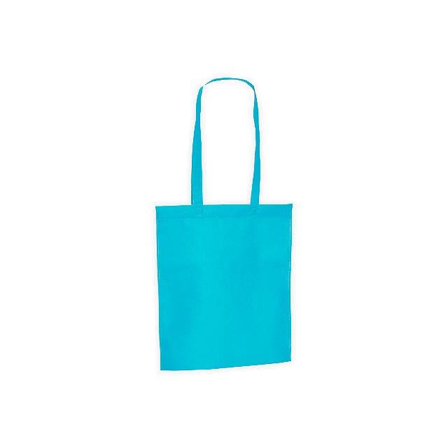 CANARY nákupní taška z netkané textilie, 80 g/m2, Světle modrá - modrá
