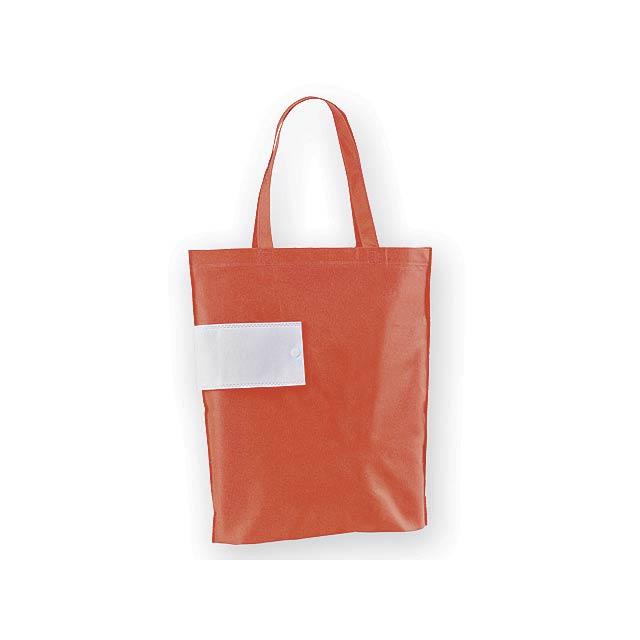 ARROL skládací nákupní taška z netkané textilie, 80 g/m2, Červená - červená