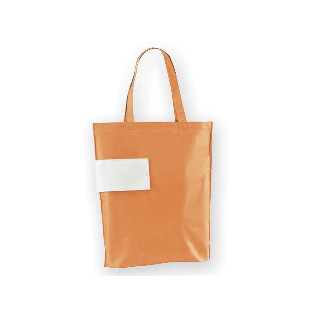 ARROL skládací nákupní taška z netkané textilie, 80 g/m2, Oranžová - oranžová