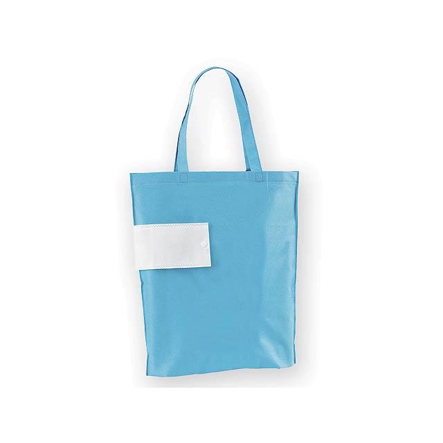 ARROL skládací nákupní taška z netkané textilie, 80 g/m2, Světle modrá - modrá