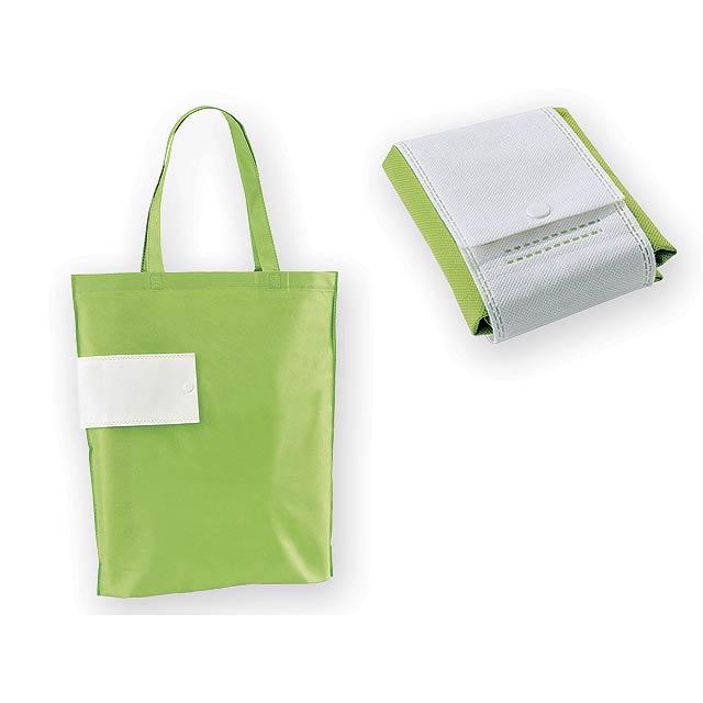 ARROL skládací nákupní taška z netkané textilie, 80 g/m2, Světle zelená - zelená
