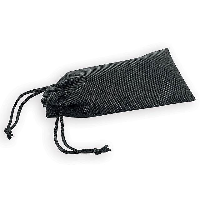 POUCHI pouzdro na brýle z netkané textilie, Černá - černá