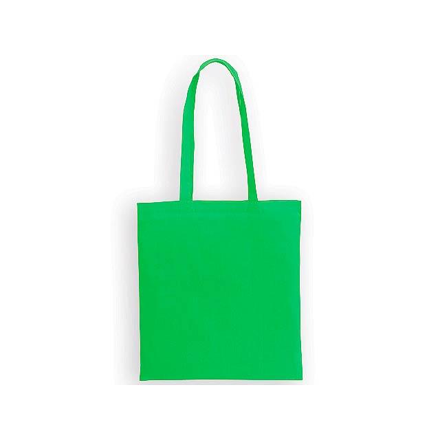 ALENA I bavlněná nákupní taška přes rameno, 100 g/m2, Světle zelená - zelená