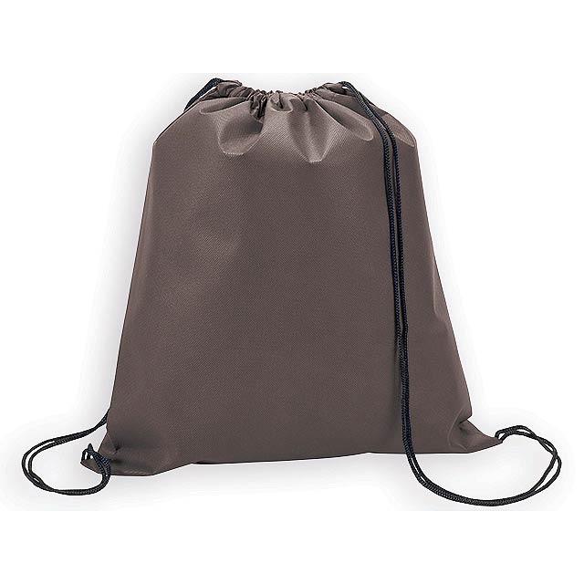RIUS II batoh z netkané textilie, 80 g/m2, Hnědá - hnědá