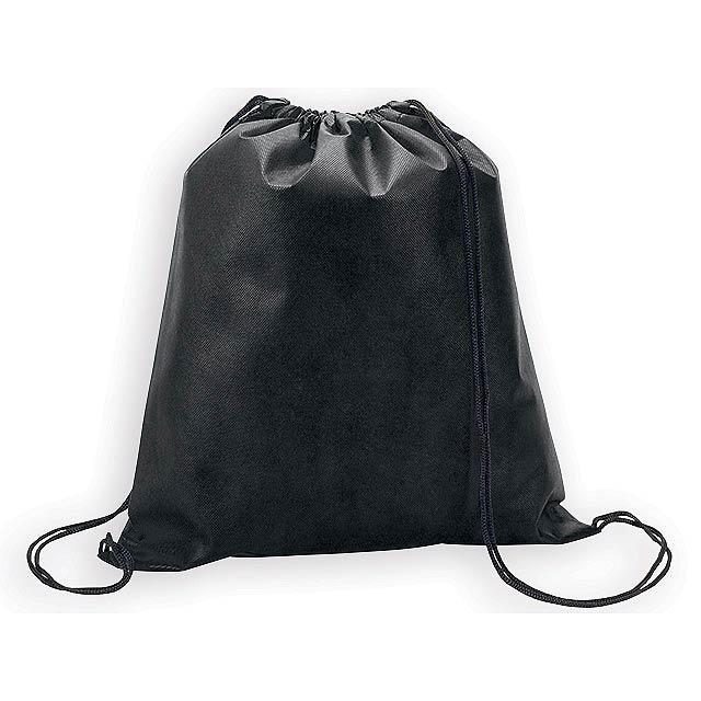 RIUS II batoh z netkané textilie, 80 g/m2, Černá - černá