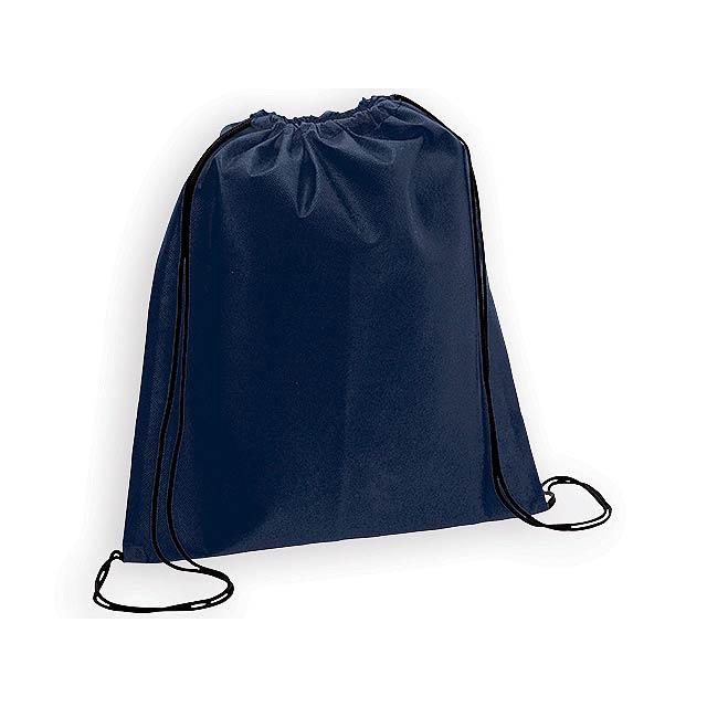 RIUS II batoh z netkané textilie, 80 g/m2, Modrá - modrá