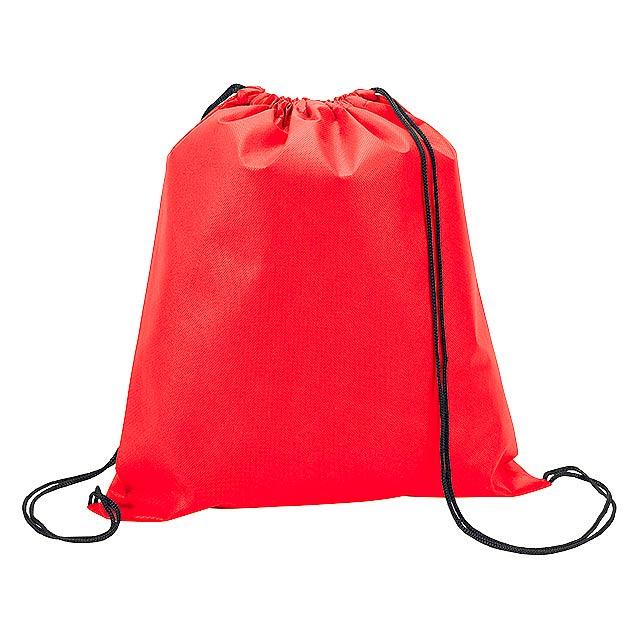 RIUS II batoh z netkané textilie, 80 g/m2, Červená - červená