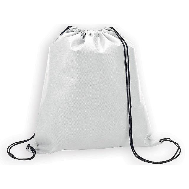 RIUS II batoh z netkané textilie, 80 g/m2, Bílá - bílá