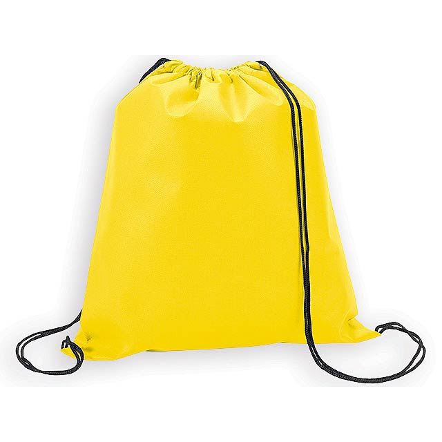 RIUS II batoh z netkané textilie, 80 g/m2, Žlutá - žlutá