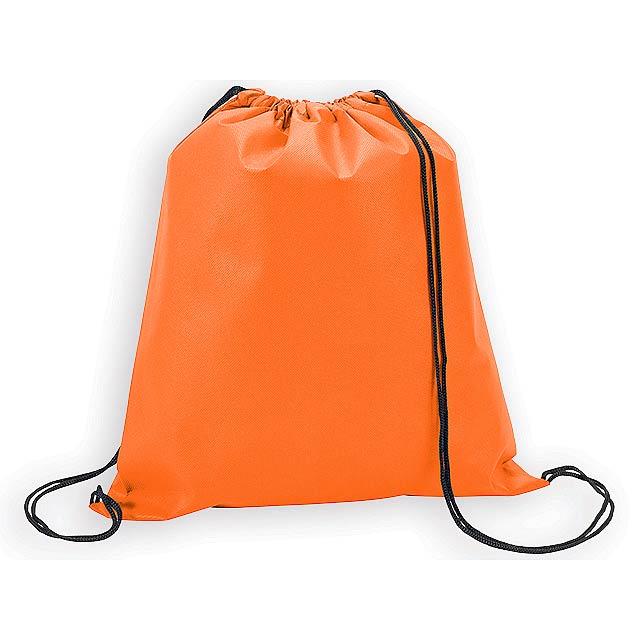 RIUS II batoh z netkané textilie, 80 g/m2, Oranžová - oranžová