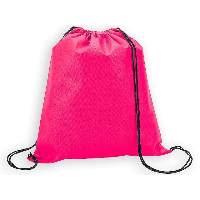 RIUS II batoh z netkané textilie, 80 g/m2, Růžová - růžová