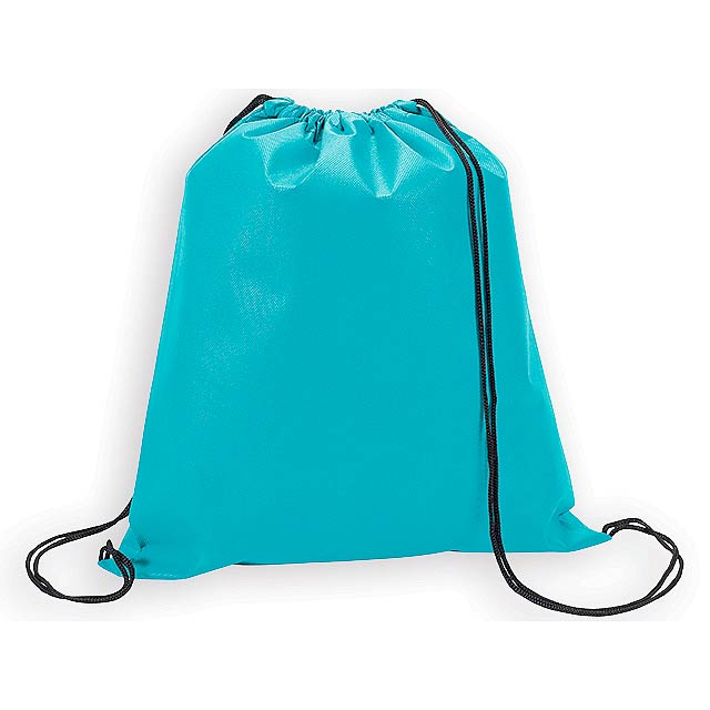 RIUS II batoh z netkané textilie, 80 g/m2, Světle modrá - modrá