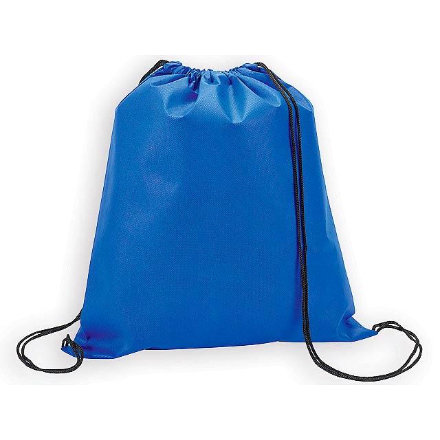 RIUS II batoh z netkané textilie, 80 g/m2, Královská modrá - modrá