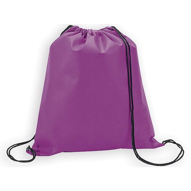 RIUS II batoh z netkané textilie, 80 g/m2, Fialová - fialová