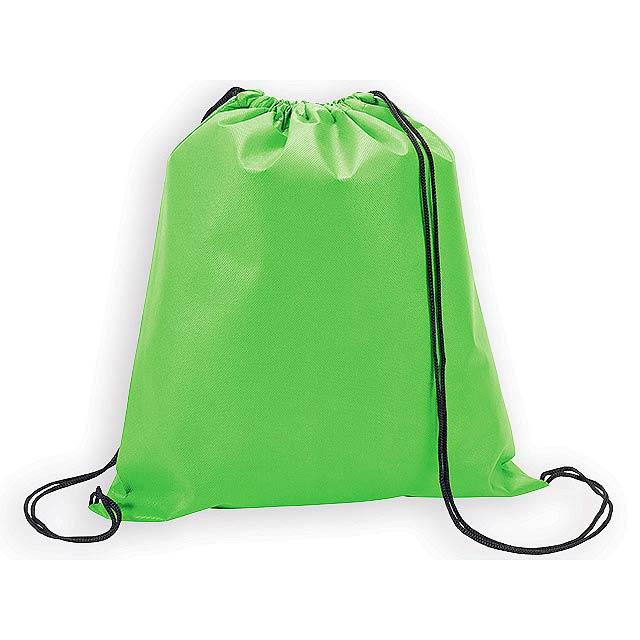 RIUS II batoh z netkané textilie, 80 g/m2, Světle zelená - zelená