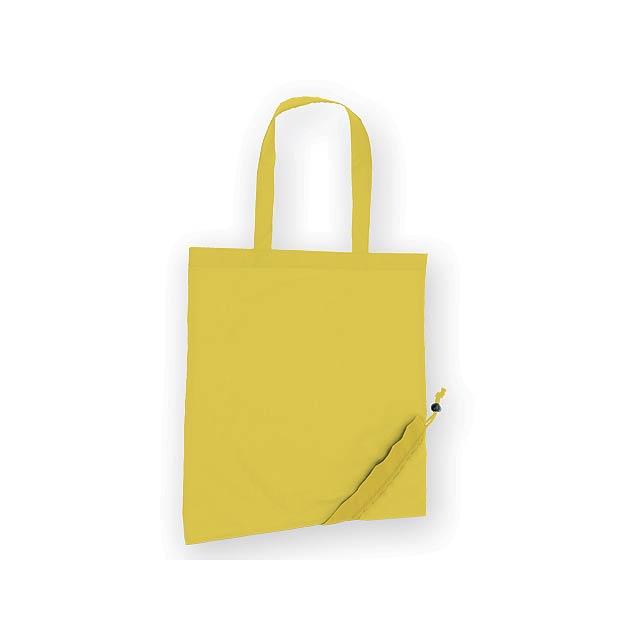 WILBY skládací nákupní taška, Žlutá - žlutá