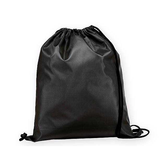 BEXINGTON polyesterový stahovací batoh, 210D, Černá - černá