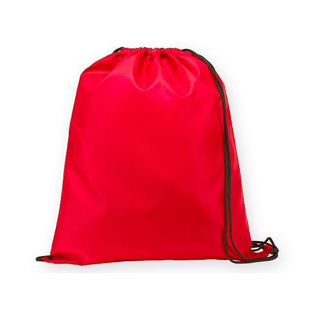 BEXINGTON polyesterový stahovací batoh, 210D, Červená - červená
