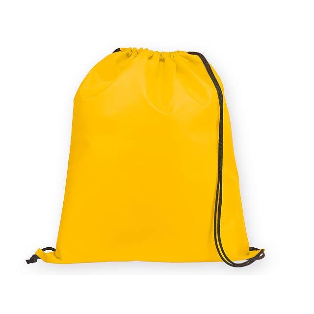 BEXINGTON polyesterový stahovací batoh, 210D, Žlutá - žlutá
