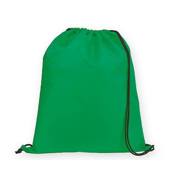 BEXINGTON polyesterový stahovací batoh, 210D, Zelená - zelená