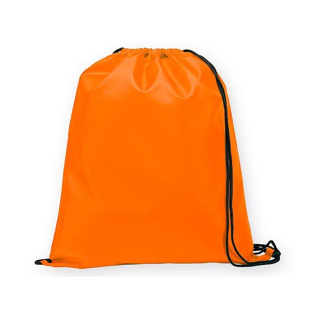 BEXINGTON polyesterový stahovací batoh, 210D, Oranžová - oranžová