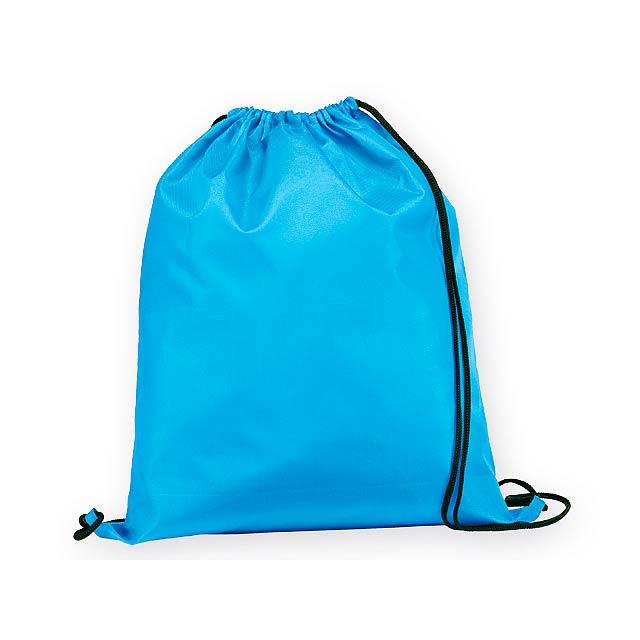 BEXINGTON polyesterový stahovací batoh, 210D, Světle modrá - modrá