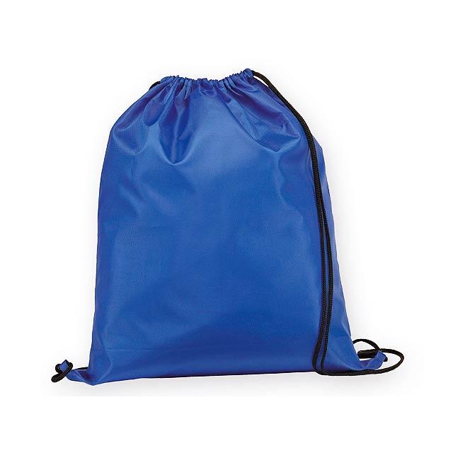 BEXINGTON polyesterový stahovací batoh, 210D, Královská modrá - modrá