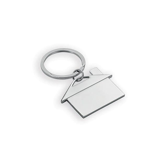 CHALET II kovový přívěsek, Stříbrná - stříbrná