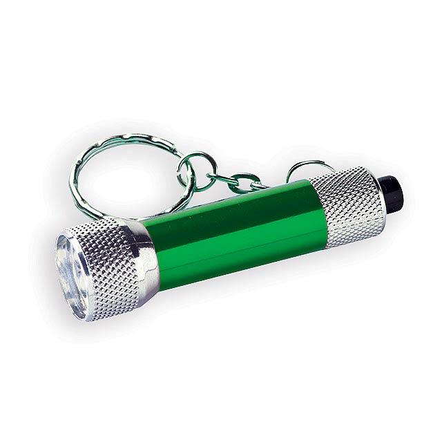 LAMP II kovový přívěsek - 3 LED svítilna, Zelená - zelená