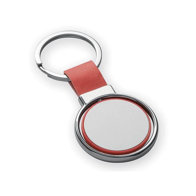 SLIGO kovový přívěsek, Červená - červená