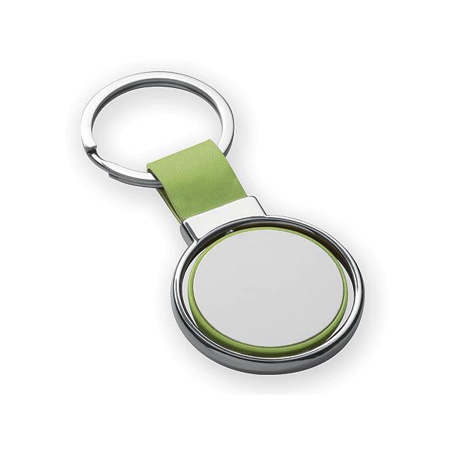 SLIGO kovový přívěsek, Světle zelená - zelená