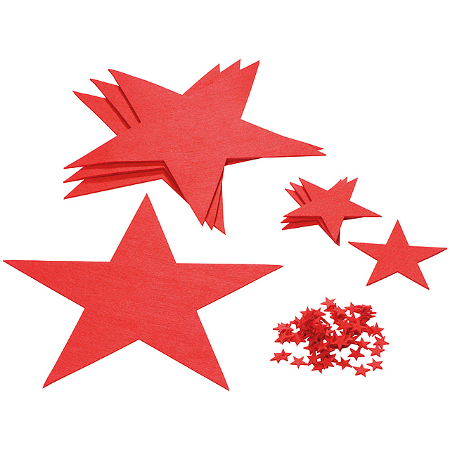 Sada hvězdiček - červená