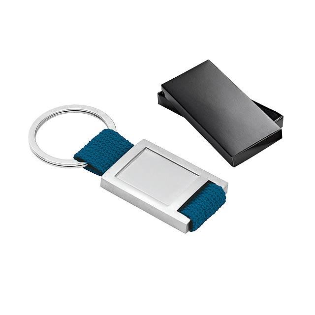 ANCHOR přívěsek na klíče z textilie a kovu, Modrá - modrá