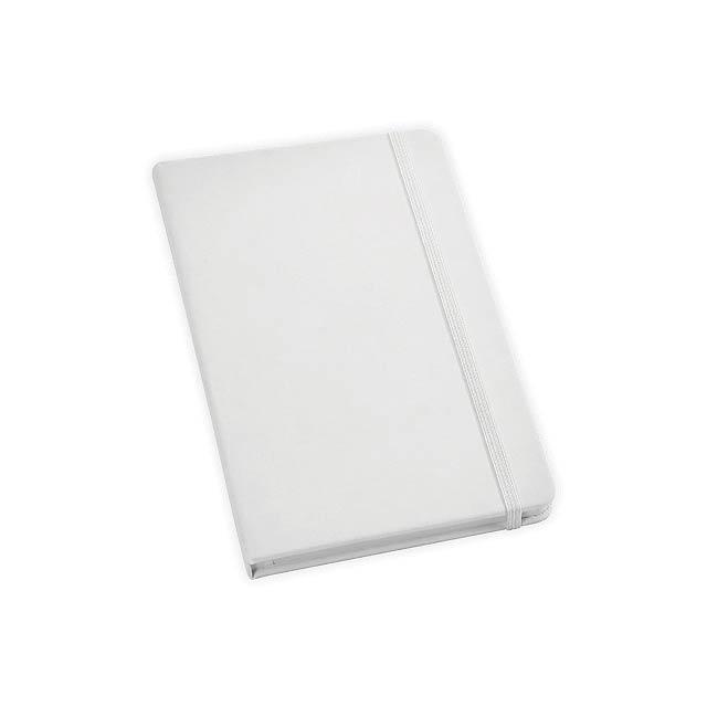 HEMINGWAY poznámkový zápisník, 160 stran bez linek, Bílá - bílá