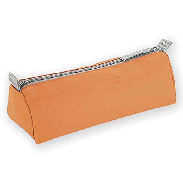 CASETO polyesterové pouzdro na tužky, 600D, Oranžová - oranžová