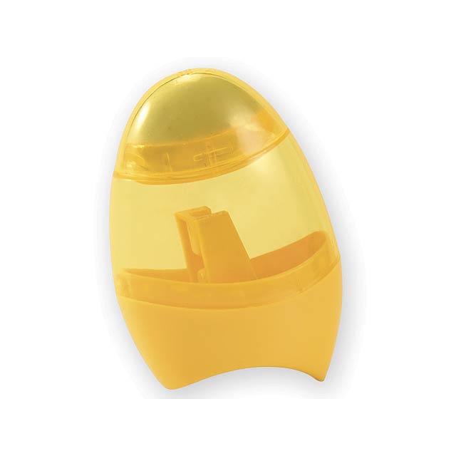 CORBY ořezávátko s gumou, Žlutá - žlutá