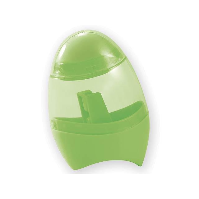 CORBY ořezávátko s gumou, Světle zelená - zelená