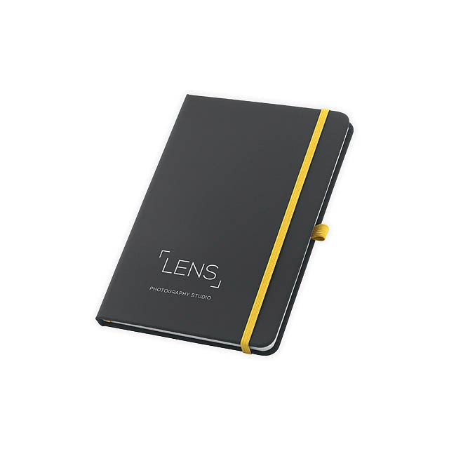 CORBIN poznámkový zápisník, 160 linkovaných stran, Žlutá - žlutá