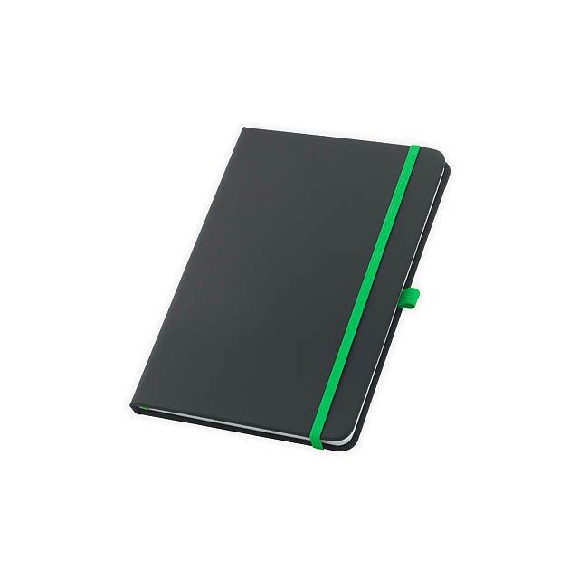 CORBIN poznámkový zápisník, 160 linkovaných stran, Světle zelená - zelená