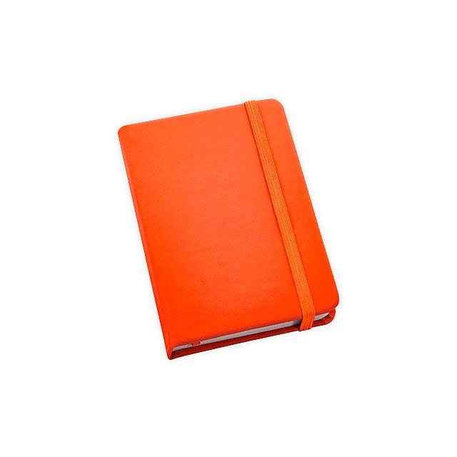 BECKETT poznámkový zápisník, 160 linkovaných stran, Oranžová - oranžová