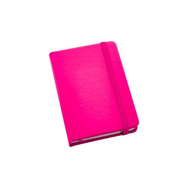 BECKETT poznámkový zápisník, 160 linkovaných stran, Růžová - růžová