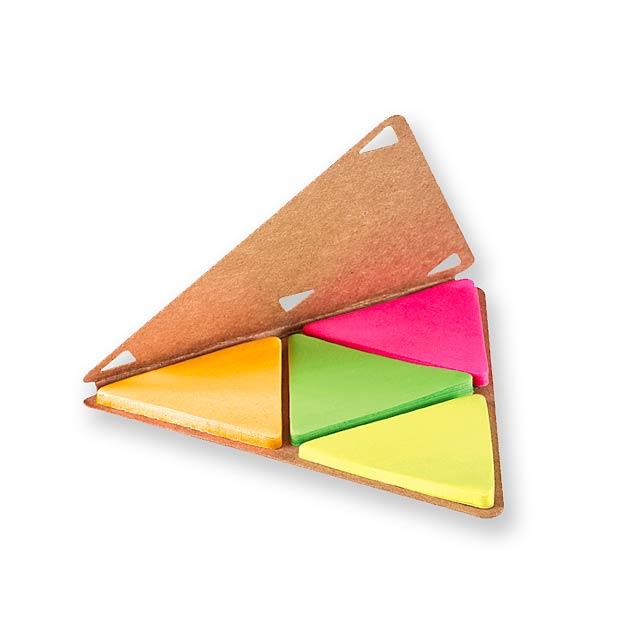 TRIANGULOS - Sticky notes set - beige