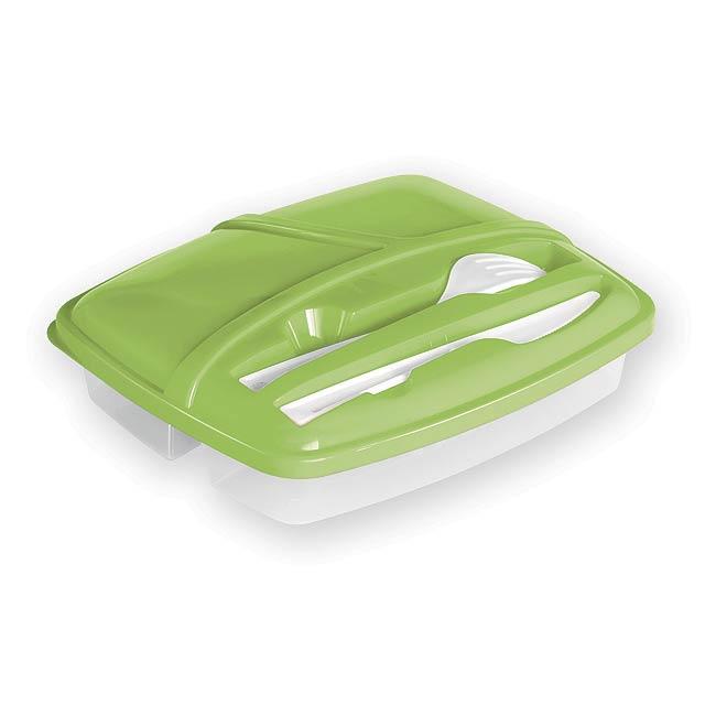 CHOLET jídelní sada - box včetně vidličky a nože, Světle zelená - zelená