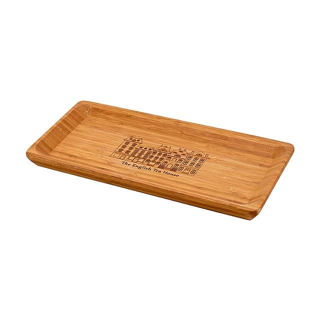 MUSTARD bambusový podnos, Přírodní - béžová