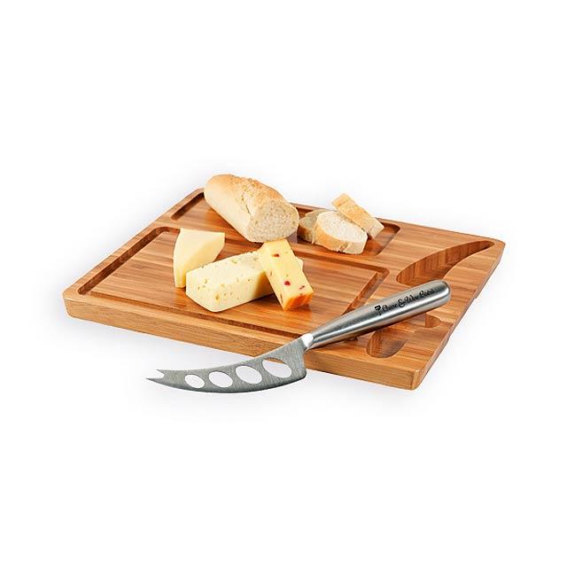 MALVIA bambusové prkénko na sýr, Přírodní - béžová