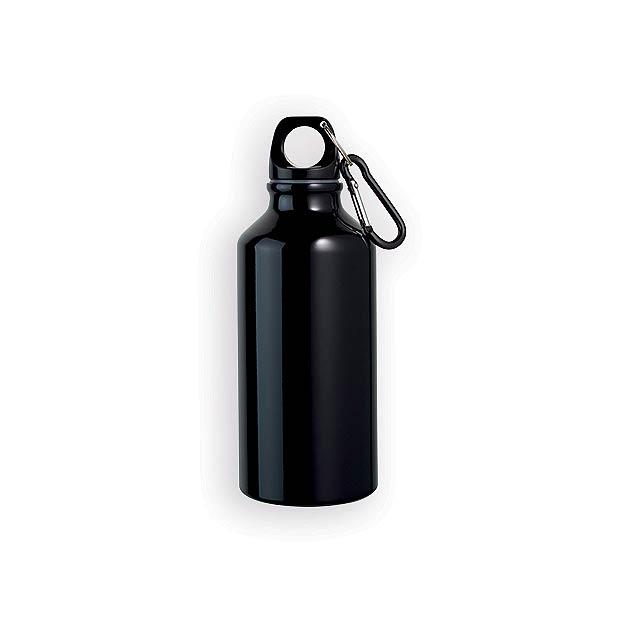 BARAC II hliníková outdoorová láhev, 400 ml, Černá - černá