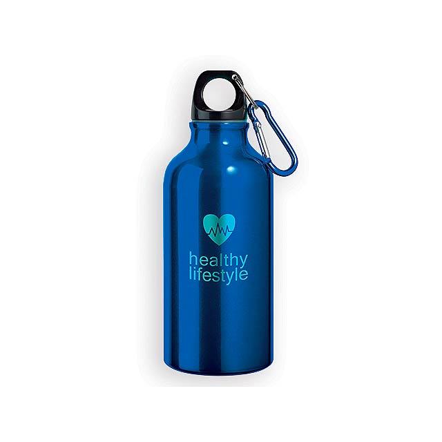 BARAC II hliníková outdoorová láhev, 400 ml, Modrá - modrá